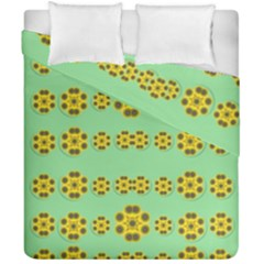 Sun Flowers For The Soul At Peace Duvet Cover Double Side (california King Size)