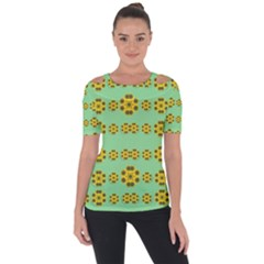 Sun Flowers For The Soul At Peace Short Sleeve Top