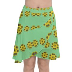 Sun Flowers For The Soul At Peace Chiffon Wrap