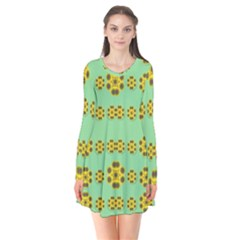 Sun Flowers For The Soul At Peace Flare Dress