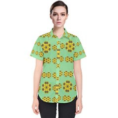 Sun Flowers For The Soul At Peace Women s Short Sleeve Shirt