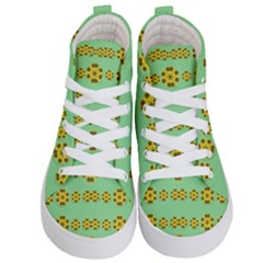Sun Flowers For The Soul At Peace Kid s Hi Top Skate Sneakers