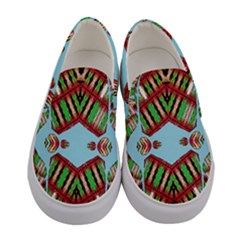 Digital Dot One Women s Canvas Slip Ons
