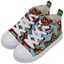 Digital Dot One Kid s Mid-Top Canvas Sneakers View2