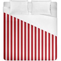 Red Stripes Duvet Cover (king Size)