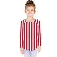 Red Stripes Kids  Long Sleeve Tee