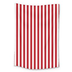 Red Stripes Large Tapestry