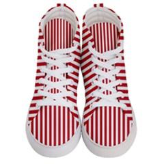 Red Stripes Men s Hi Top Skate Sneakers