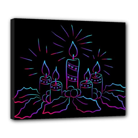 Advent Wreath Candles Advent Deluxe Canvas 24  X 20