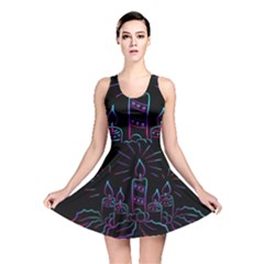 Advent Wreath Candles Advent Reversible Skater Dress