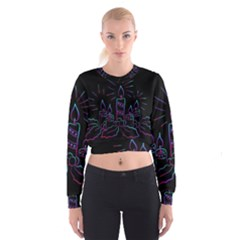 Advent Wreath Candles Advent Cropped Sweatshirt