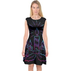 Advent Wreath Candles Advent Capsleeve Midi Dress