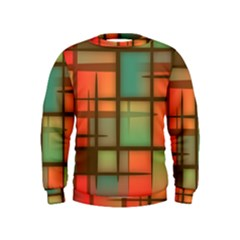 Background Abstract Colorful Kids  Sweatshirt