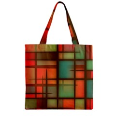 Background Abstract Colorful Zipper Grocery Tote Bag
