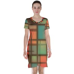 Background Abstract Colorful Short Sleeve Nightdress