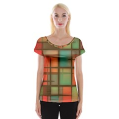 Background Abstract Colorful Cap Sleeve Tops