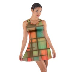 Background Abstract Colorful Cotton Racerback Dress