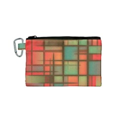 Background Abstract Colorful Canvas Cosmetic Bag (small)