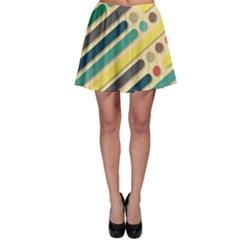 Background Vintage Desktop Color Skater Skirt