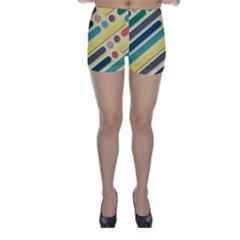 Background Vintage Desktop Color Skinny Shorts