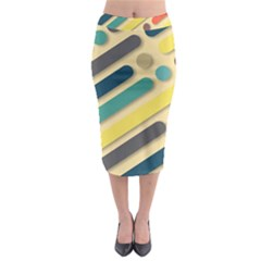 Background Vintage Desktop Color Midi Pencil Skirt