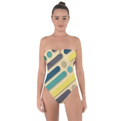 Background Vintage Desktop Color Tie Back One Piece Swimsuit