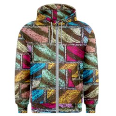 Colorful Painted Bricks Street Art Kits Art Men s Zipper Hoodie