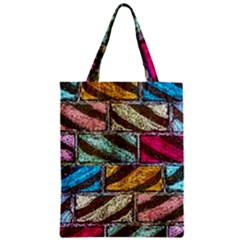 Colorful Painted Bricks Street Art Kits Art Zipper Classic Tote Bag