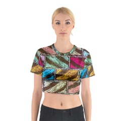Colorful Painted Bricks Street Art Kits Art Cotton Crop Top