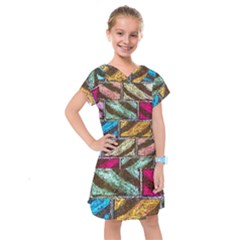 Colorful Painted Bricks Street Art Kits Art Kids  Drop Waist Dress