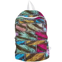 Colorful Painted Bricks Street Art Kits Art Foldable Lightweight Backpack