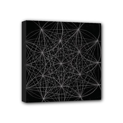 Sacred Geometry Music 144links Mini Canvas 4  X 4