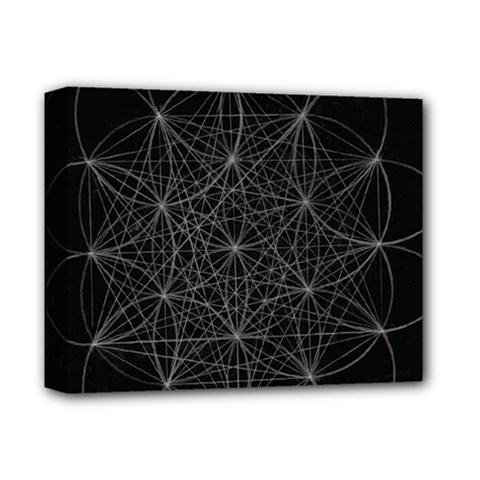 Sacred Geometry Music 144links Deluxe Canvas 14  X 11