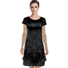 Sacred Geometry Music 144links Cap Sleeve Nightdress