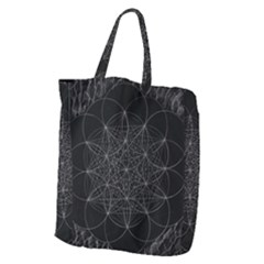 Sacred Geometry Music 144links Giant Grocery Zipper Tote