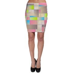 Background Abstract Grid Bodycon Skirt