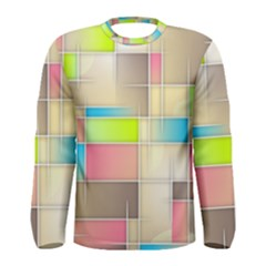 Background Abstract Grid Men s Long Sleeve Tee