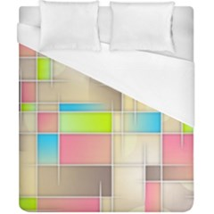 Background Abstract Grid Duvet Cover (california King Size)