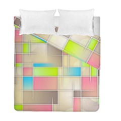Background Abstract Grid Duvet Cover Double Side (full/ Double Size)