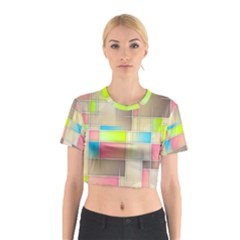 Background Abstract Grid Cotton Crop Top