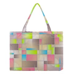 Background Abstract Grid Medium Tote Bag