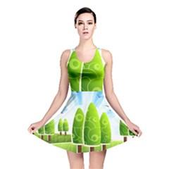 Landscape Nature Background Reversible Skater Dress