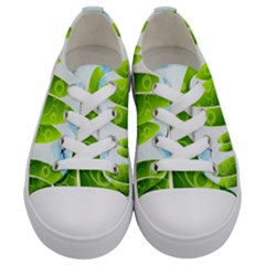Landscape Nature Background Kids  Low Top Canvas Sneakers