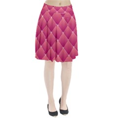 Pink Background Geometric Design Pleated Skirt