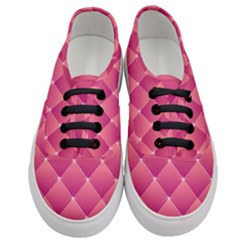 Pink Background Geometric Design Women s Classic Low Top Sneakers