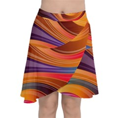 Abstract Colorful Background Wavy Chiffon Wrap