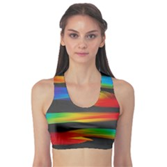 Colorful Background Sports Bra