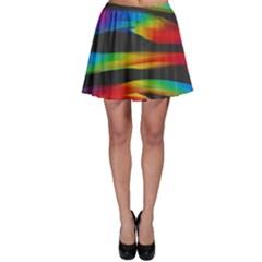Colorful Background Skater Skirt