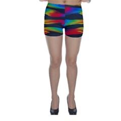 Colorful Background Skinny Shorts