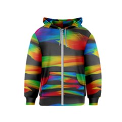 Colorful Background Kids  Zipper Hoodie